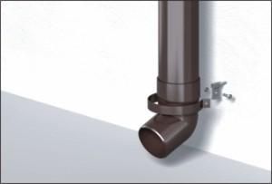 Водосточные системы ПВХ монтаж сливной трубы и криплений