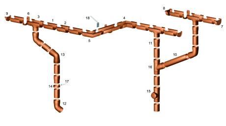 Водосточные системы ПВХ схема крепления системы gamrat