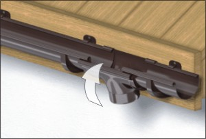 Водосточные системы ПВХ воронка для желоба установка